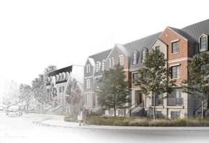 Rendering of Distrikt Islington Village Towns partial sketch