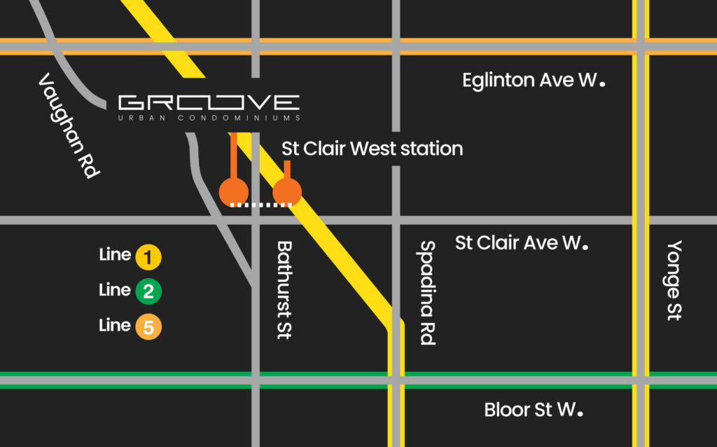 Map of Groove Urban Condos in Toronto