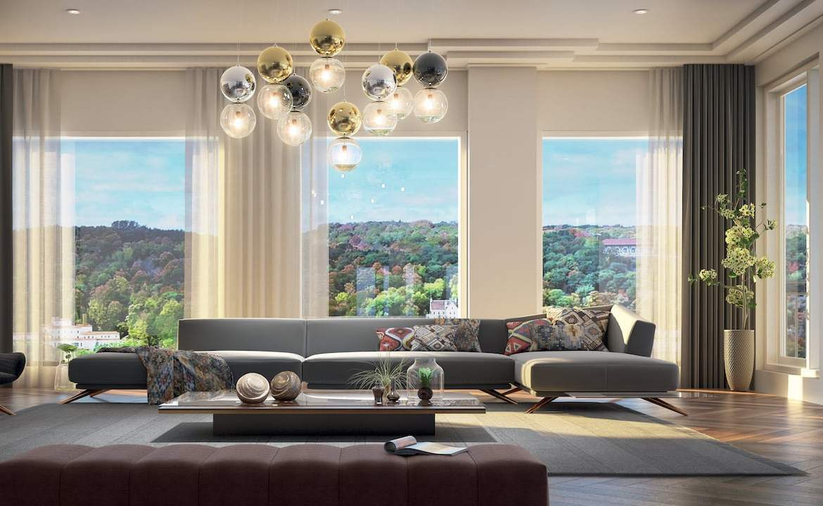 Rendering of Le Sherbrooke Condos penthouse interior