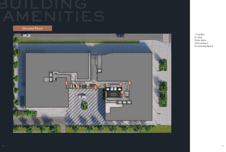 Verge 2 Condos Ground Floor Amenity Plan