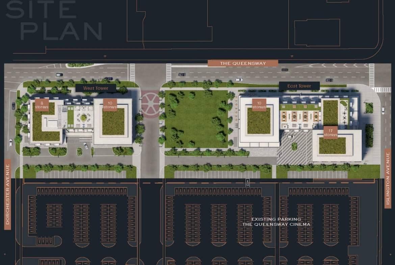 Verge 2 Condos site plan