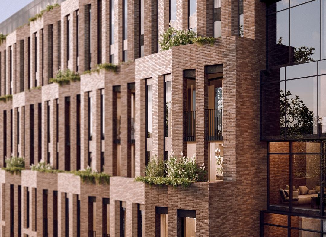 Rendering of Leaside Common Condos exterior siding close-up