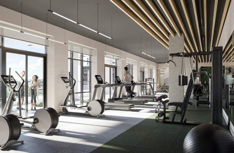 Rendering of Verge 2 Condos fitness studio