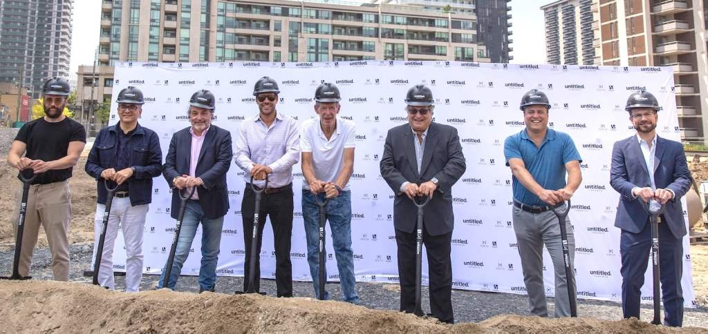 Reserve Properties and Westdale Properties celebrate the start of construction at Untitled Toronto, image by Geoff Fitzgerald