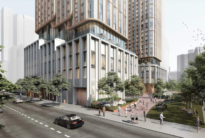 Rendering of 475 Yonge Street Condos exterior streetscape