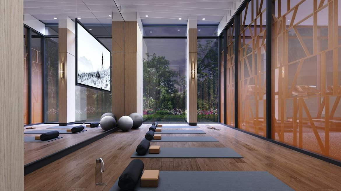 Rendering of Westerly Condos yoga mats