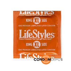 Case of 1,000 - LifeStyles Large (King Size XL) Condoms