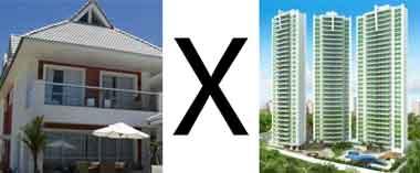 Hora da escolha: apartamento ou casa