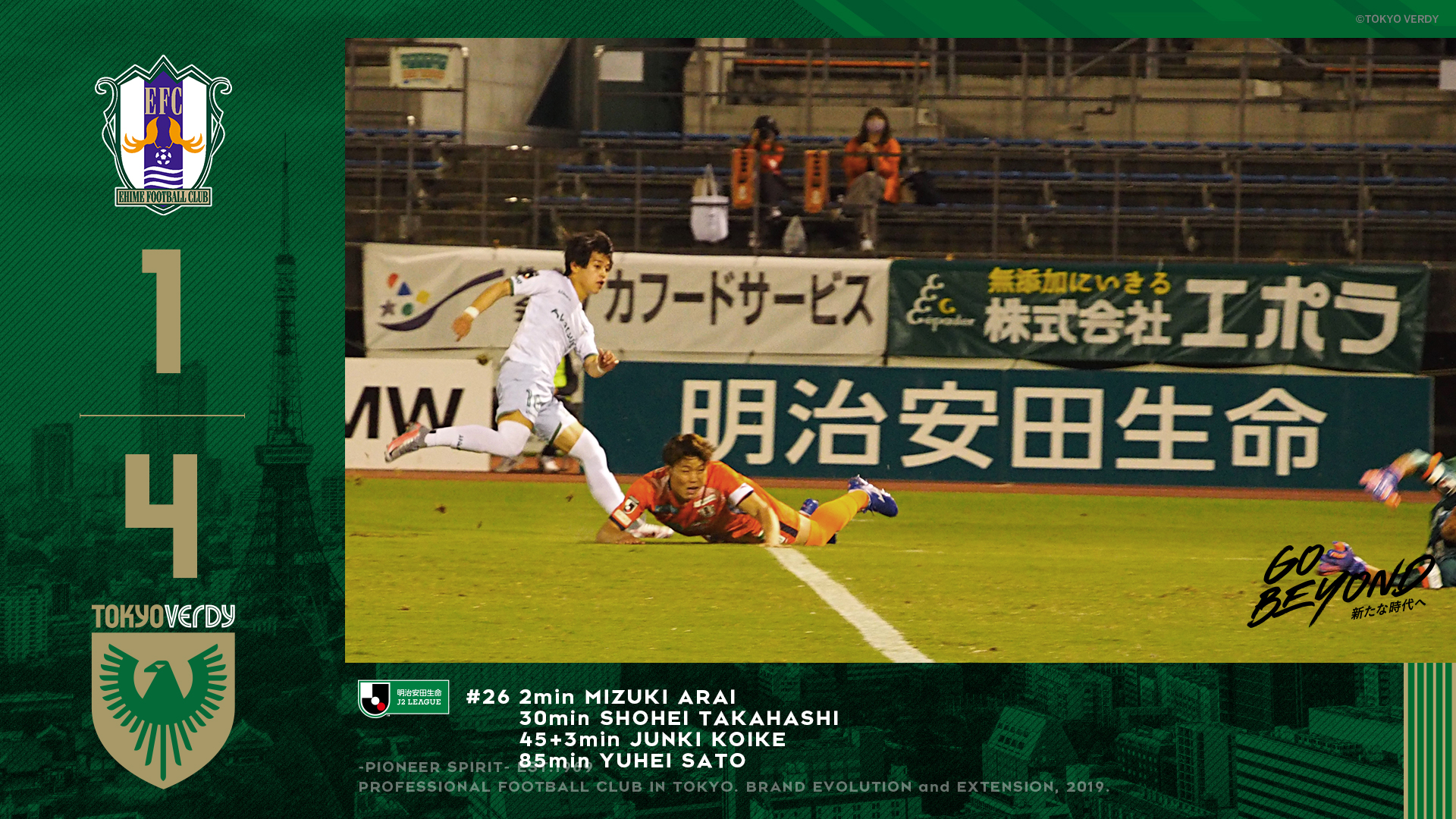 【Result】覚醒のきっかけとなる勝利?~2020第26節vs愛媛FC(A)~
