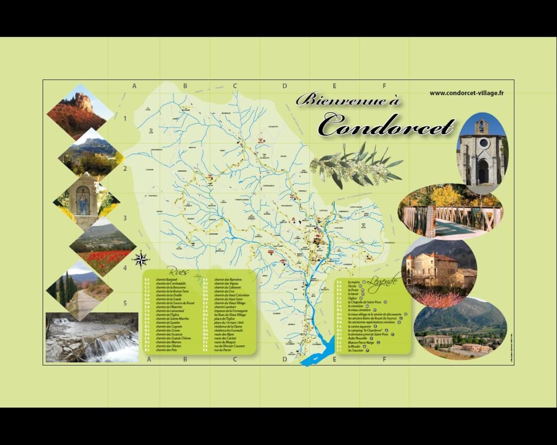 plan des rues de Condorcet