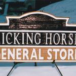 Kicking Horse General Store cedar sign