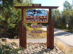 bed and breakfast signs Castle On The Mountain Vernon BC sandblasted cedar sign,Custom handcrafted artist apinted.