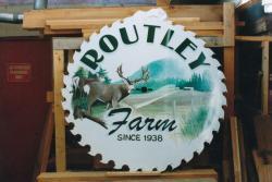 Custom painted farm sign