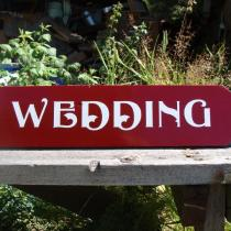 wood custom directional sign made by Condor signs