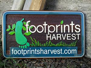 Organic Produce Delivery Service Serving the Nicola Valley since 2009,Merrit BC,cedar sign sand blasted and artist painted by Condor signs
