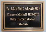 Custom Cast bronze plaque for a memorial Designed by Condor signs Vernon BC