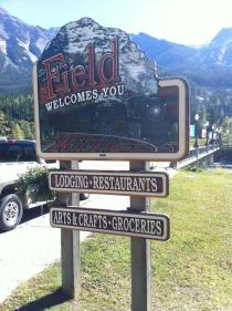 Sign Restoration for the town of Field bc by CondorSystems Vernon BC