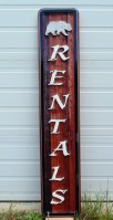 Blakiston Rentals Waterton National Park wood sign sandblasted by Vernon wooden sign makers Condor Signs