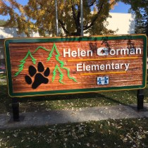 Helen Gorman Elementary By Condor signs Vernon BC.Monument signs for schools business and institutions.