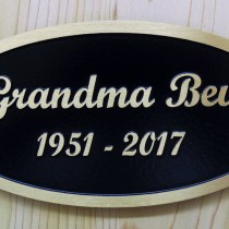 Bronze metal grave plaques Grandma Bev bronze memorial plaque for a park bench