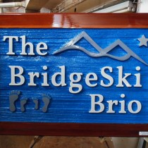 Sandblasted Cedar sign For ski chalet On Silver Star Mountain Vernon BC.Custom made wood signs by Condor Signs