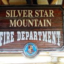 Before picture of Silver Star Moutain Fire Department sign
