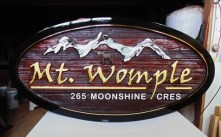Gold leaf adores this cedar sign for a Big White Ski Resort Kelowna BC.house.Condor Signs has made many signs for ski resorts.