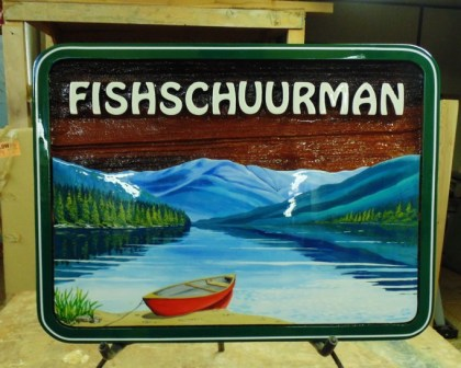 Custom Painting for the Fish and Schuurman families Condor signs will paint almost anything