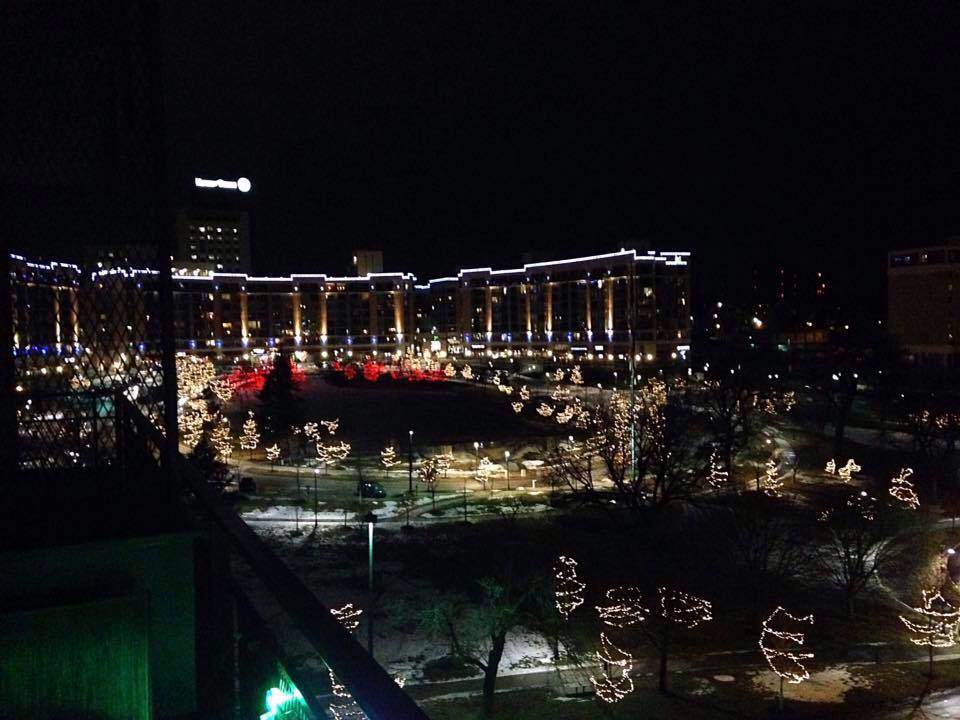 Winter Scene from The Balcony at The Condos At 3000 Farnam