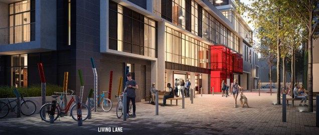 Dueast Condos Living lane