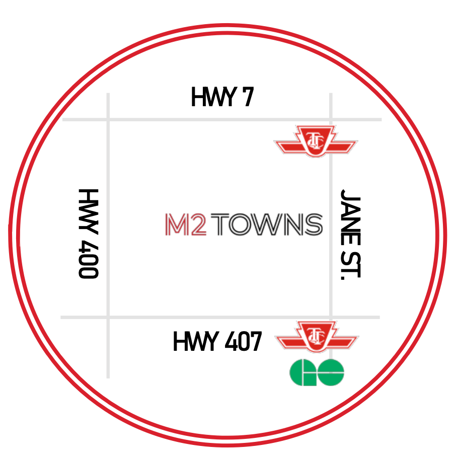 m2 towns map