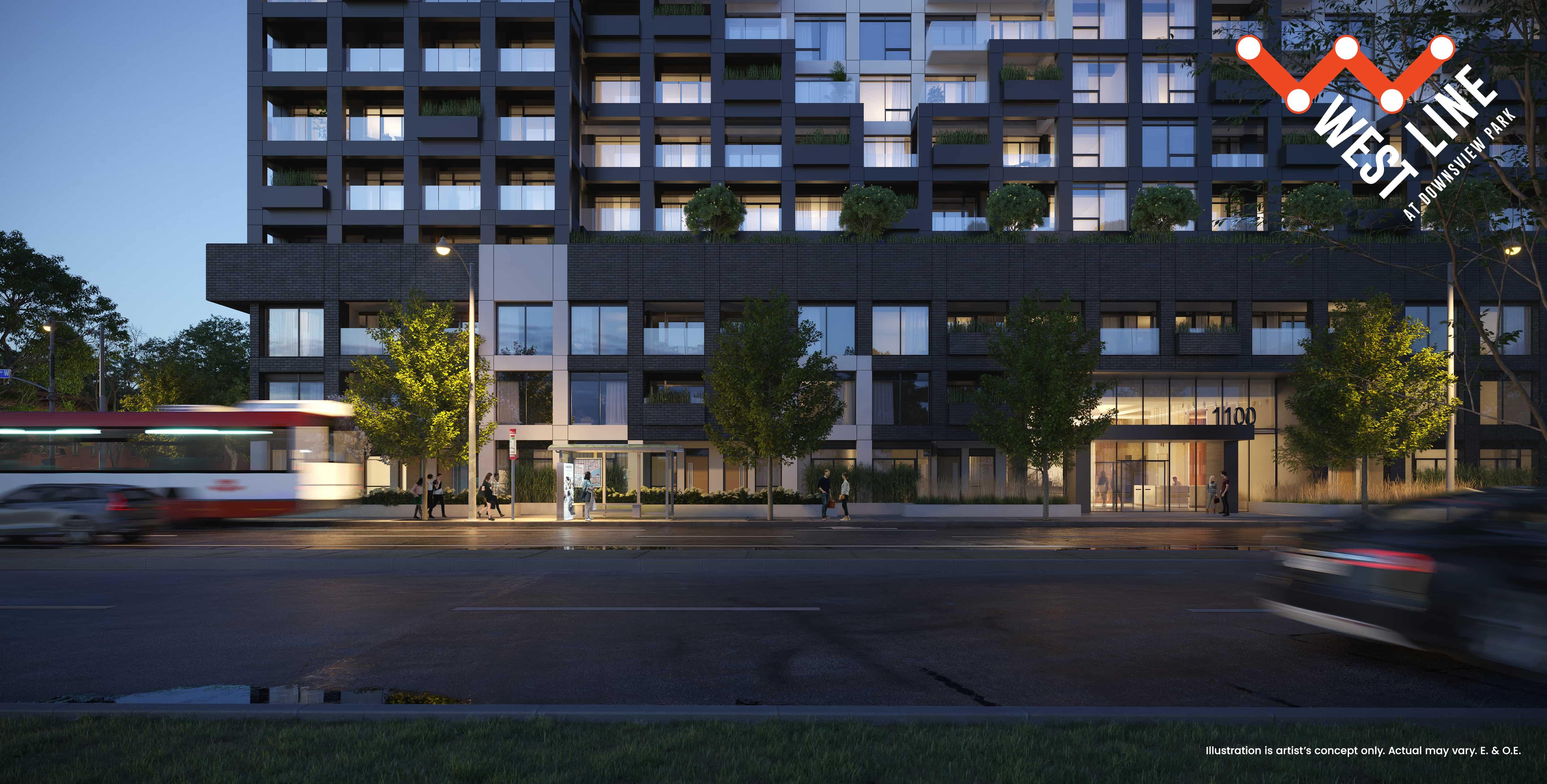 WestLine Condos - Ground Floor Exterior