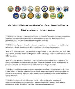 Maryland Signs Multi-State Agreement to Increase Deployment of Zero-Emission Trucks and Buses