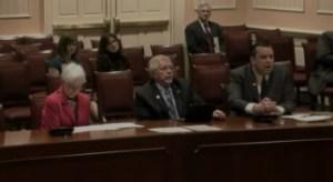 Senator Eckardt, Commissioner Valentine, and Executive Director Sanderson support MACo's school funding bill