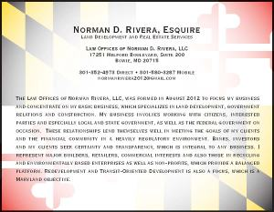 Law Office of Norman D Rivera half page