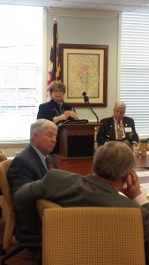 Delegate Kathleen Dumais, Chair of the JRCC Release and Reentry subcommittee provides an over view of the recommendations and resulting bills.