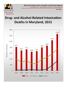 DHMH 2015 Drug- and Alcohol-Related Intoxication Deaths in Maryland