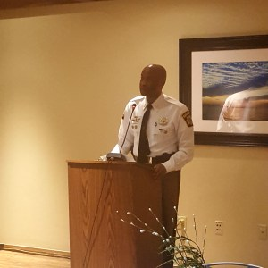 Charles County Sheriff Troy Berry addresses the Maryland County Officials Diversity Caucus.