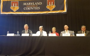 From left to right: County Executive Kittleman, Jim Alfree, Debbie Groat, Chris Dellinger, Joseph Mason