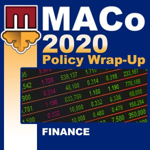 2020 End of Session Wrap-Up: Finance and Procurement