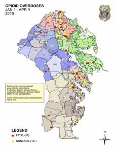 AA Overdose Map Jan-April 2019