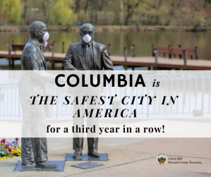 Columbia Ranked First for Safest American City for Third Year in A Row