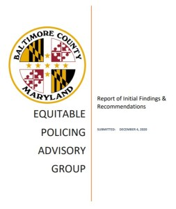 Baltimore County Advisory Group Aimed at Equitable Policing Releases Interim Report