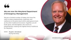 Introducing the Maryland Department of Emergency Management