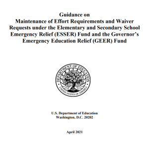 New Federal Guidance on MOE Requirements for Education Funding