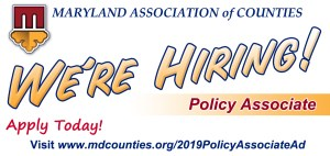 Reminder: MACo is Hiring a Policy Associate – Apply Today! (Deadline is Friday)