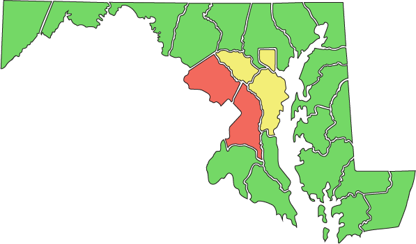 UPDATED: Maryland's Reopening Status, By County