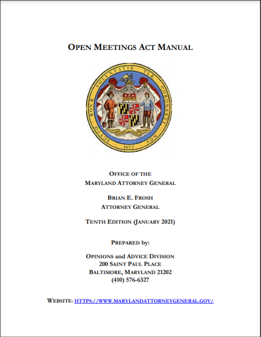 Attorney General Posts Updated Open Meetings Act Manual