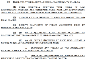 Two New Boards Your County Will Need, After 2021 Police Reforms