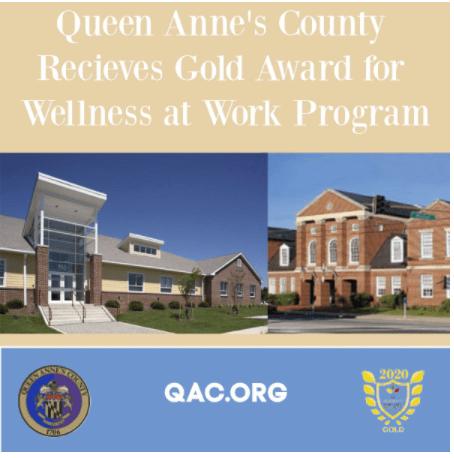 Queen Anne's Earns Gold Award for Wellness at Work Program